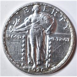 1920-S STANDING LIBERTY QUARTER  BU  OLD CLEANING