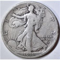 1916-S WALKING LIBERTY HALF DOLLAR  FINE