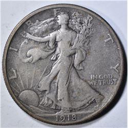 1918 WALKING LIBERTY HALF DOLLAR  VF/XF