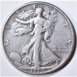 1919 WALKING LIBERTY HALF DOLLAR  VF/XF