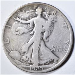 1920-D WALKING LIBERTY HALF DOLLAR  FINE