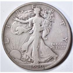 1920-S WALKING LIBERTY HALF DOLLAR  VF