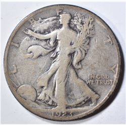 1923-S WALKING LIBERTY HALF DOLLAR  FINE