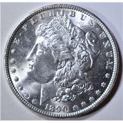 1890 MORGAN DOLLAR  CH/GEM BU