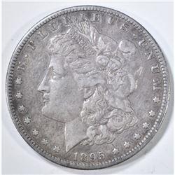 1895-S MORGAN DOLLAR  XF+