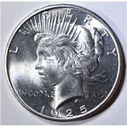 1925 PEACE DOLLAR  GEM BU