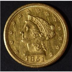1851-O $2.5 GOLD LIBERTY  AU/BU  OLD CLEANING