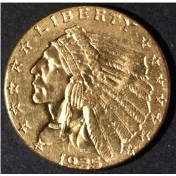 1925-D $2.5 GOLD INDIAN  CH/GEM BU