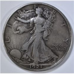 1921-D WALKING LIBERTY HALF DOLLAR  VF/XF