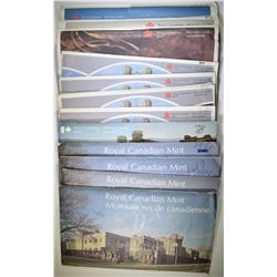 LOT OF 13 ROYAL CANADIAN MINT SETS: