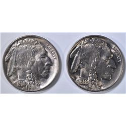 2 1938-D/D BUFFALO NICKELS  GEM BU