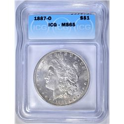 1887-O MORGAN DOLLAR  ICG MS-65
