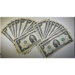 25- 2013 $2.00 FRN STAR NOTES CONSEC# CU