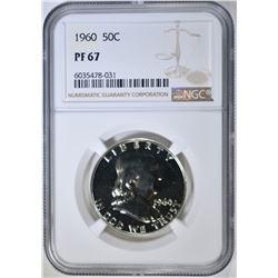 1960 FRANKLIN HALF DOLLAR, NGC PF-67