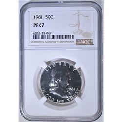 1961 FRANKLIN HALF DOLLAR, NGC PF-67