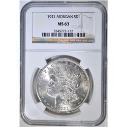 1921 MORGAN DOLLAR  NGC MS-63