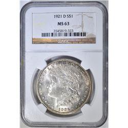 1921-D MORGAN DOLLAR NGC MS-63