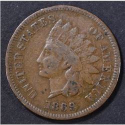 1869 INDIAN CENT VG