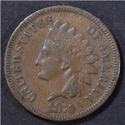 1876 INDIAN CENT FINE