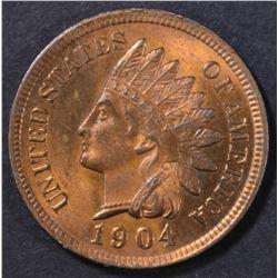 1904 INDIAN CENT CH/GEM BU RED