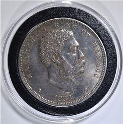1883 HAWAII DOLLAR AU/BU CLEANED