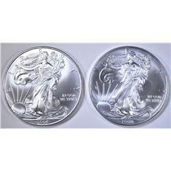 2-2008 BU AMERICAN SILVER EAGLES