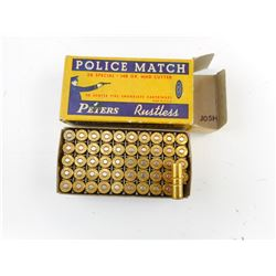 PETERS .38 SPECIAL POLICE MATCH WADCUTTER AMMO