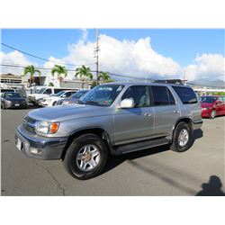 2002 Toyota 4 Runner SR5, 217,577 Miles, Lic. PDW027, Runs & Drives - See Video