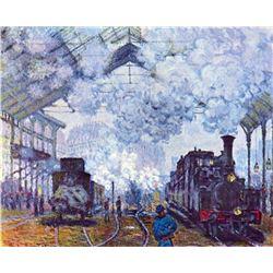 Claude Monet - Saint Lazare Station in Paris, Arrival of a Train