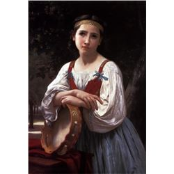 William Bouguereau - Gypsy Girl with Basque Drum