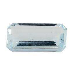 3.49 ct.Natural Emerald Cut Aquamarine