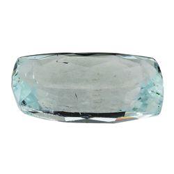 7.43 ct.Natural Cushion Cut Aquamarine