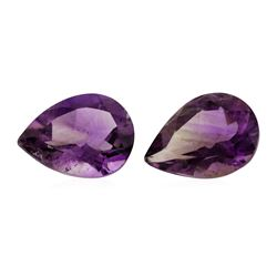 14.63 ctw. Natural Pear Cut Amethyst Parcel of Two