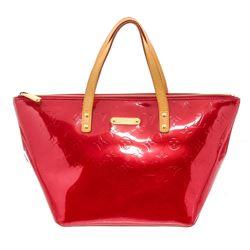 Louis Vuitton Red Vernis Monogram Leather Bellevue GM Bag