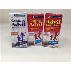 Lot of Childrens Advil (3 x 100ml)