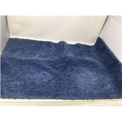 Blue Shag Bathmat