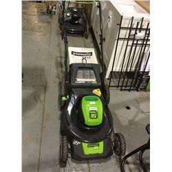 "Greenworks Pro 21"" 80V Lithium Lawnmower (Retailer Return) NO BATTERY"