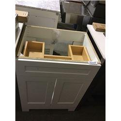 White Wooden Vanity (Freight Damage) no sink