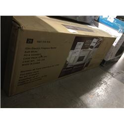 """NEW Home Decorator Collection 53"""" Electric Fireplace Mantel -(Freight Claim) minimal damage"""