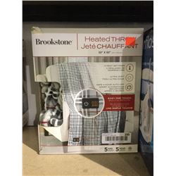 "Brookstone 50"" x 60"" Heated Throw Blanket"
