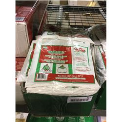 Case of Degradable Large Heavy-Duty Christmas Tree Skirt and Removal Bags