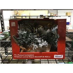 """Home Accents Holiday 16"""" Flocked Centerpiece"""