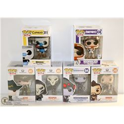 LOT OF 6 ASSORTED FUNKO POPS; GAMES VARIETY PACK