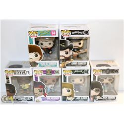 LOT OF 6 ASSORTED FUNKO POPS; ROCKS VARIETY  PACK