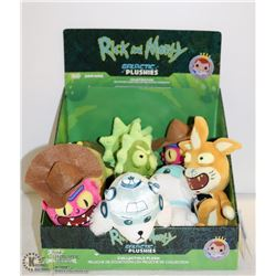 ASSORTED 9PC GALLACTIC PLUSHIES RICK & MORTY