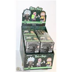 PK OF 10 FUNKO MYSTERY MINI FIGURINES; RICK &
