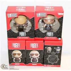 5PK OF DORBZ HOT FUZZ FIGURINES