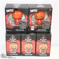 5PK OF DORBZ FIGURINES; PUMPKIN KING