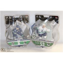 2PK OF NHL HOCKEY FIGURINES; VANCOUVER CANUCKS