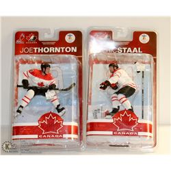 2PK TEAM CANADA THORTON & STAAL HOCKEY FIGURINES